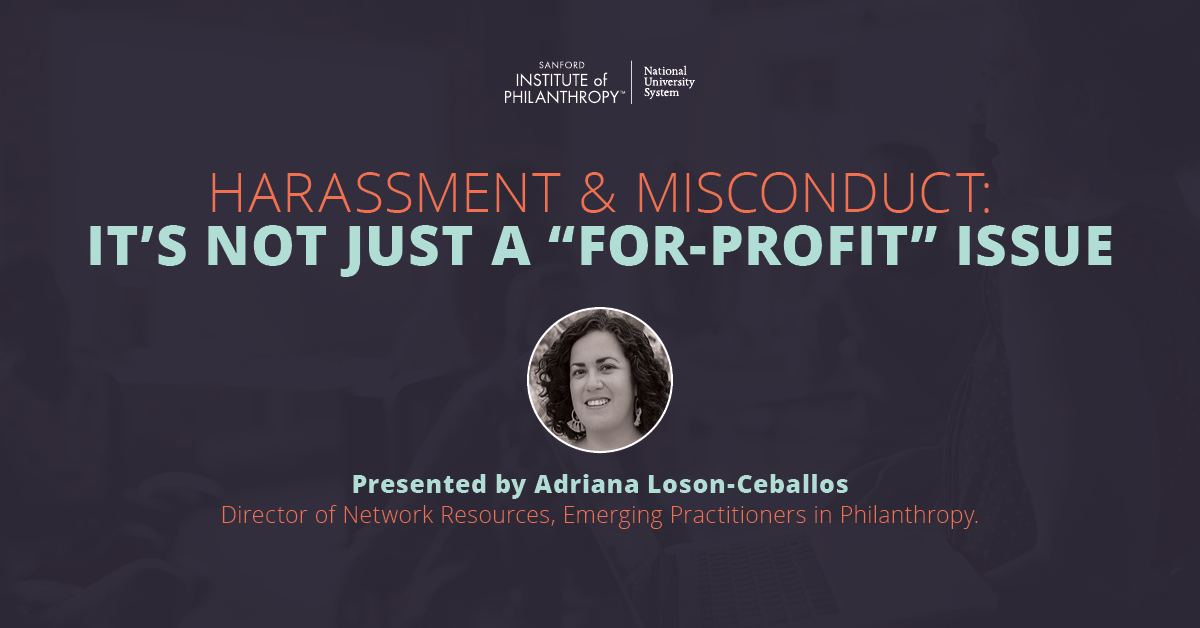 "Harassment and Misconduct: It's Not Just a ""For-Profit"" Issue"