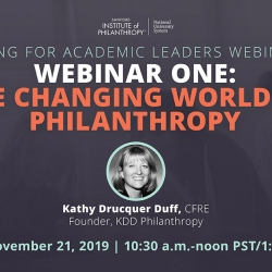 Webinar 1-The Changing World of Philanthropy