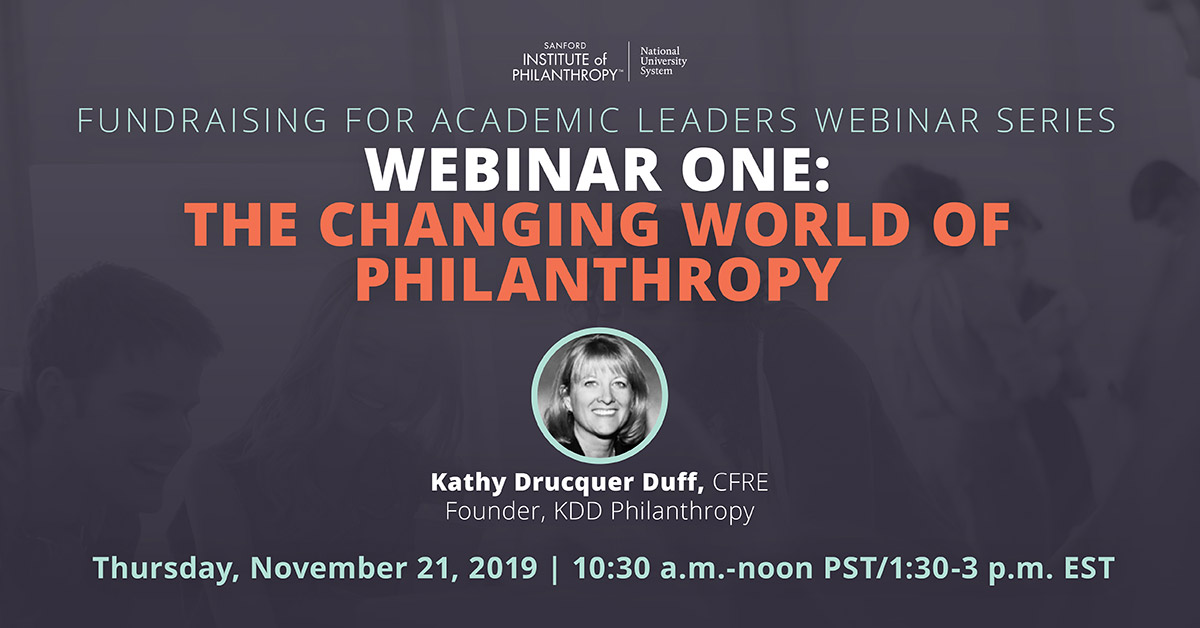 Webinar 1-The Changing World of Philanthropy